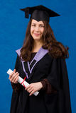 Holder of a master's degree royalty free stock photography