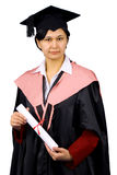 Holder of a master's degree Royalty Free Stock Photo