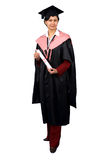 Holder of a master's degree stock photography