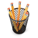Holder with pencils Stock Photos