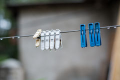Holders underwear hanging on a thread Royalty Free Stock Photo