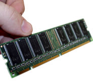 Holdin Ram. Hand holding RAM Chip Royalty Free Stock Photos