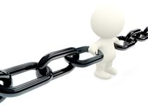 Holding 3D chain together Stock Image