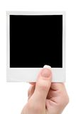 Holding A Picture Frame Stock Image
