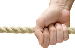 Holding A Rope Royalty Free Stock Photos