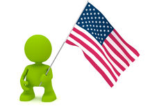 Holding an American Flag Royalty Free Stock Photos