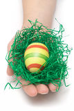 Holding An Easter Egg Royalty Free Stock Photo