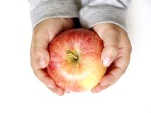 Holding an Apple Stock Images