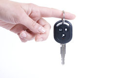 Holding automobile keys Stock Photography