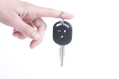Holding automobile keys Stock Photo
