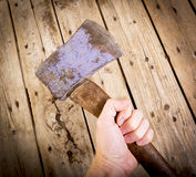 Holding Axe Stock Photo