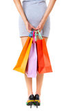 Holding bags Royalty Free Stock Photo