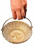 Holding basket Royalty Free Stock Photo