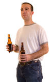 Holding Beer Royalty Free Stock Photo
