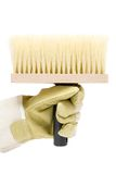 Holding a Big Brush Royalty Free Stock Photo