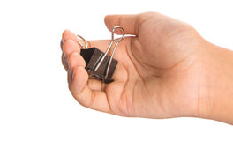 Holding Binder Clip II Royalty Free Stock Image