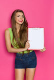 Holding Blank Clipboard For You Stock Photography