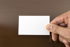 Holding a blank placard Stock Image