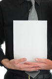 Holding Blank Sign Stock Photography