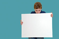 Holding Blank Sign Stock Images