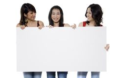 Holding Blank Sign Stock Image