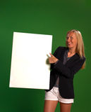 Holding a board with copy space Stock Photo