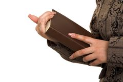 Holding book Royalty Free Stock Photos