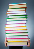 Holding books Royalty Free Stock Photography