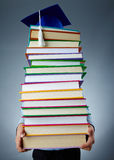Holding books. Image of stack of books held by child Stock Photos