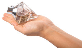 Holding Bottle Of Perfume III Royalty Free Stock Images