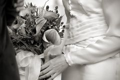 Holding The Bouquet Stock Photography