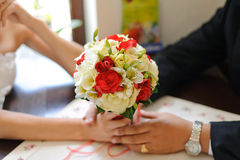 Holding Bouquet Together Royalty Free Stock Image