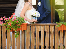 Holding Bouquet Together Royalty Free Stock Images
