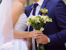 Holding Bouquet Together Royalty Free Stock Photo