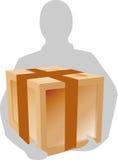 HOLDING A BOX stock illustration