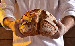 Holding Bread Stock Images