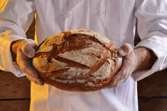 Holding Bread Royalty Free Stock Image