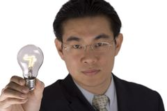 Holding Bulb Royalty Free Stock Photography