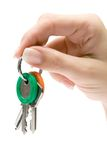 Holding a Bunch of Keys Royalty Free Stock Photos