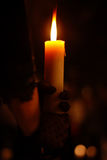 Holding a Candle Royalty Free Stock Photography