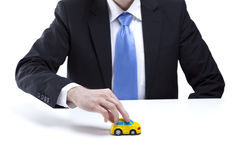 Holding a car Stock Photos