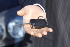 Holding Car Key Royalty Free Stock Photo