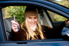 Holding Car Keys Stock Photography