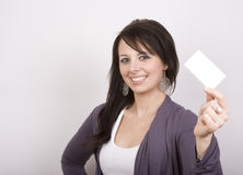 Holding a Card Royalty Free Stock Photo