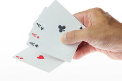 Holding card Royalty Free Stock Image