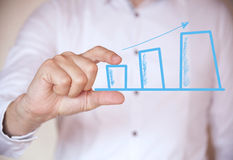 Holding a chart Royalty Free Stock Photography