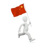 Holding a chinese flag Stock Photos