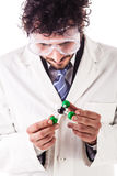 Holding chloroform molecular structure Royalty Free Stock Photography