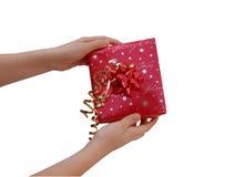 Holding Christmas Present Stock Photo