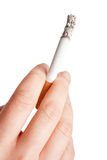 Holding a cigarette Stock Image